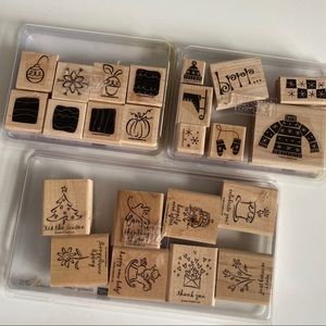 STAMPIN UP Winter Season Misc Rubber Stamp